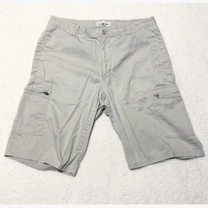 Calvin Klein Khaki Cargo Shorts Multi Pocket Tan